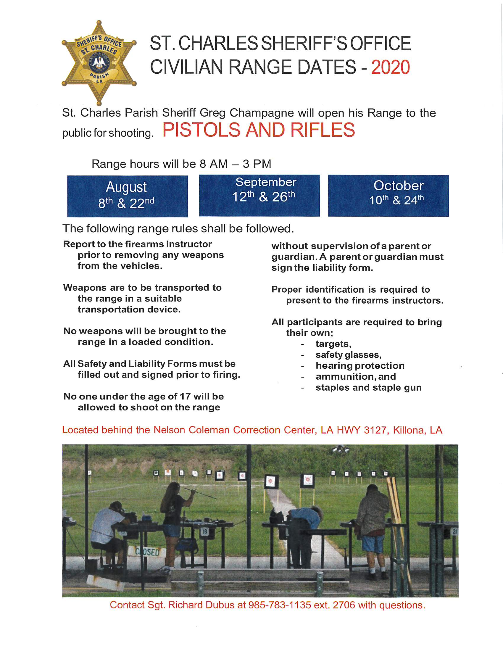 August 2020 Civilian Range day