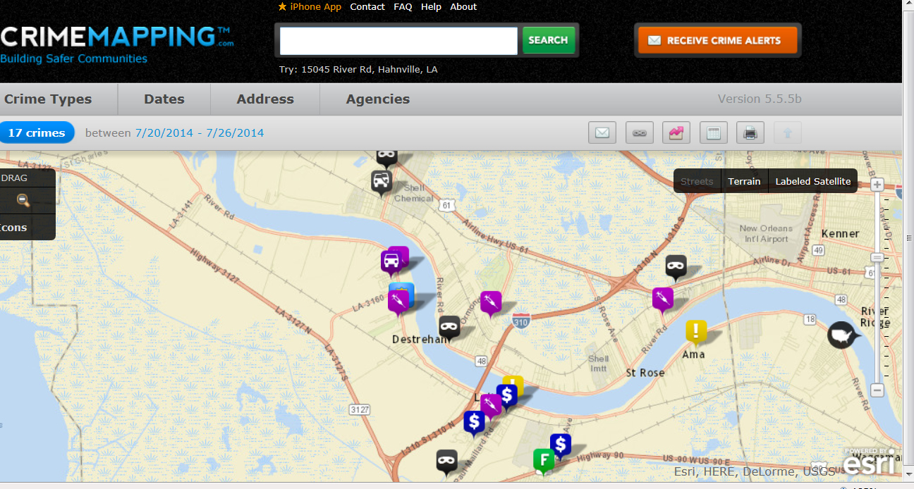 Crime Mapping Appication